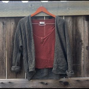 Grey wool cardigan